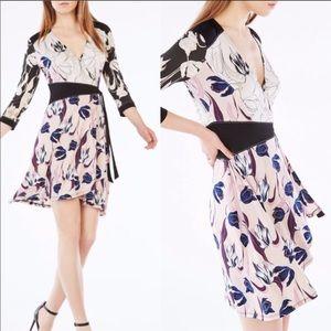 BCBG Adele Tulip Print Wrap Dress